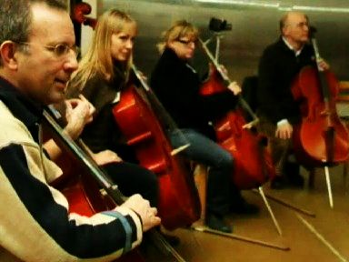 row of cello learning adults