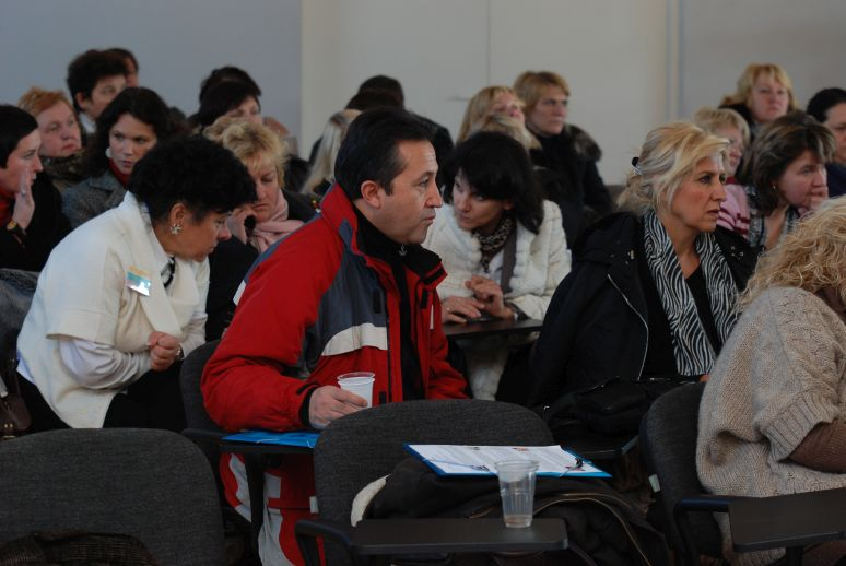 attentively working participants
