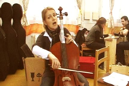 music as a sport enthused cello teacher singing
