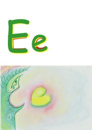 cring face, image for alphabet letter E