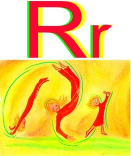 letter R and kids making gym